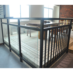 From china Balcony stainless steel railing design Aluminum railing Stair glass railing prices