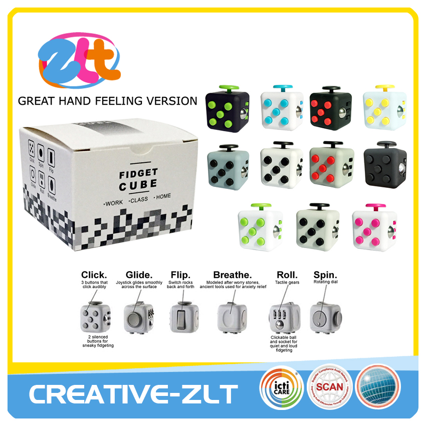 2017 newest release and anti stress cube toy
