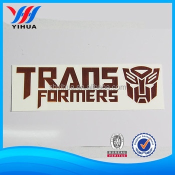 chrome electroplating car decal car body sticker
