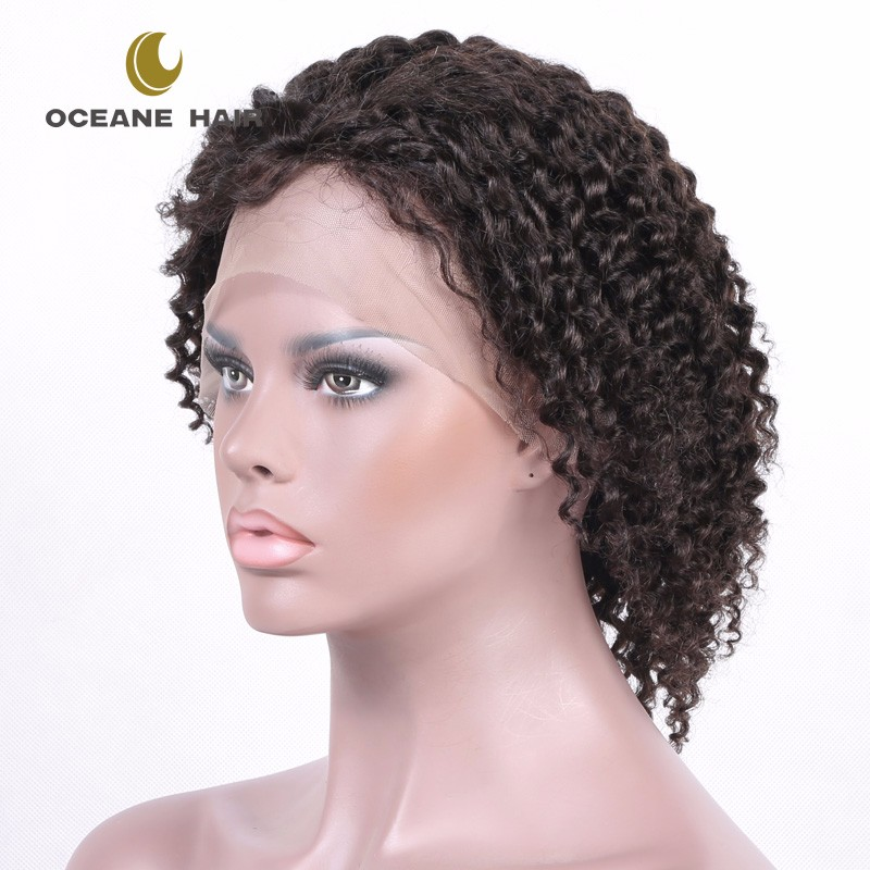 OCEANE HAIR Wholesale cheap 10 inch brazilian indian human hair lace front wig with baby hair