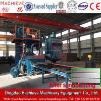 QH698 H beam, steel plate and steel structure shot blasting cleaning machine
