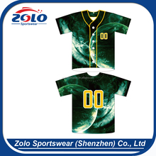 Fashion Custom Sublimation Full Button Personalized Adult Baseball Jerseys