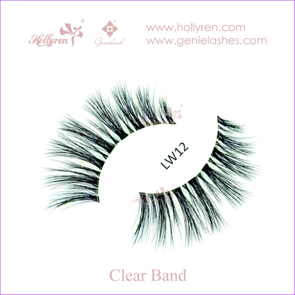 3D Natural Layered Dense Clear Naked Band Artifical Mink Fur Strip Eyelash