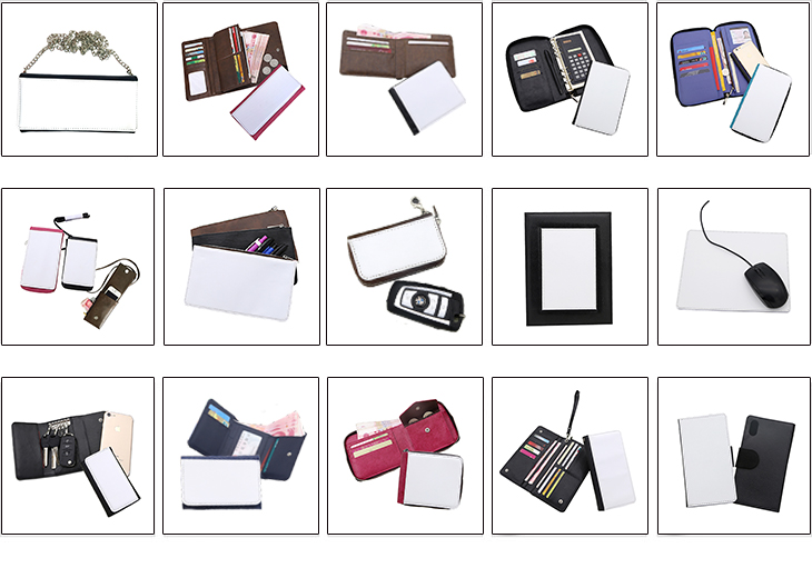 2018 New Sublimation Blanks , Sublimation Products, Sublimation Wallet with High Profit than Sublimation T shirt