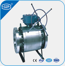 API608 API6D STD ASTM WCB CF8 CF8M CF3 CF3M 150LB 300LB 600LB 900LB Worm Gear Operated Drive Trunnion Ball Valve