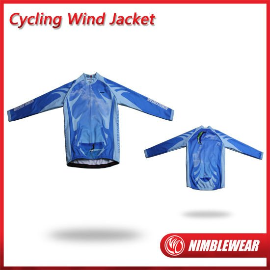2011 Hot Custom NIMBLEWEAR Sublimated Ocean Winter Cycling Wind Jacket