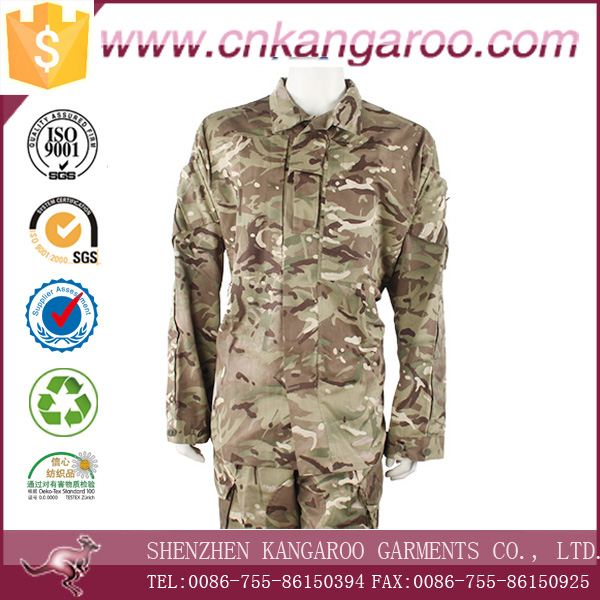 British MTP camo patterns of military surplus uniforms