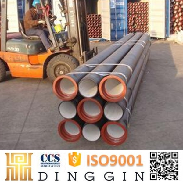 ISO2531 water supply prime quality cement lined k9 ductile iron pipes and fittings