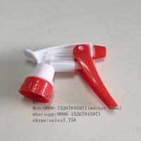 Eco-friendly portable trigger pump 24 410 for pet bottle/High quality trigger spray pump/White pink 28/410 trigger spray pump