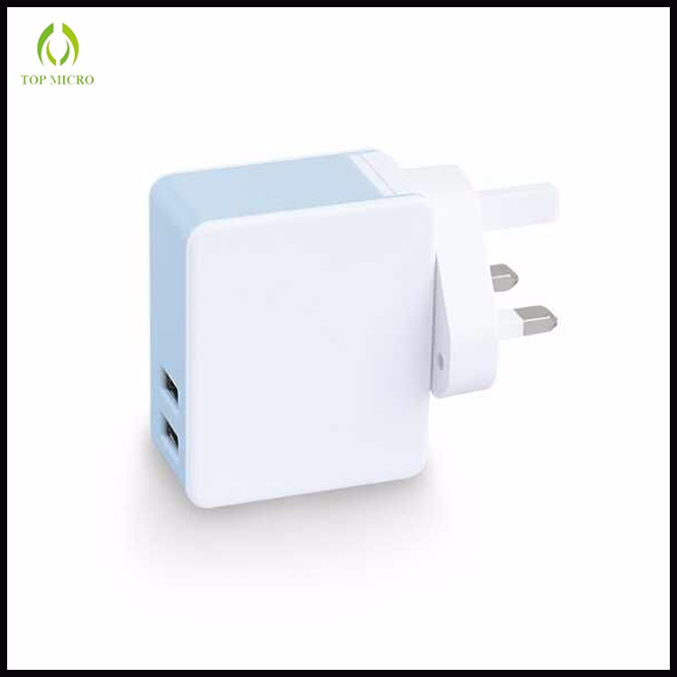 Multi Function Dual USB Adapter with US/EU/UK Socket 2in1Power bank+Wall Charger
