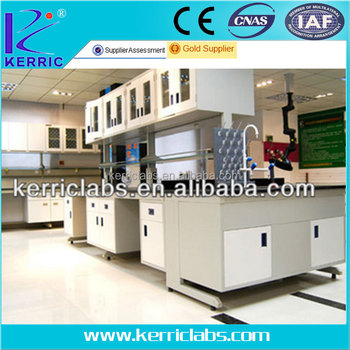 full steel laboratory work bench with cabinet