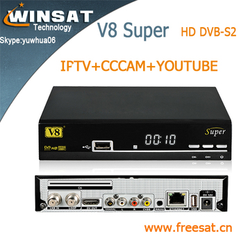 Similiar V8S DVB-S2 full 1080p hd satellite receiver V8 Super porn iptv set top box support cccam powervu you