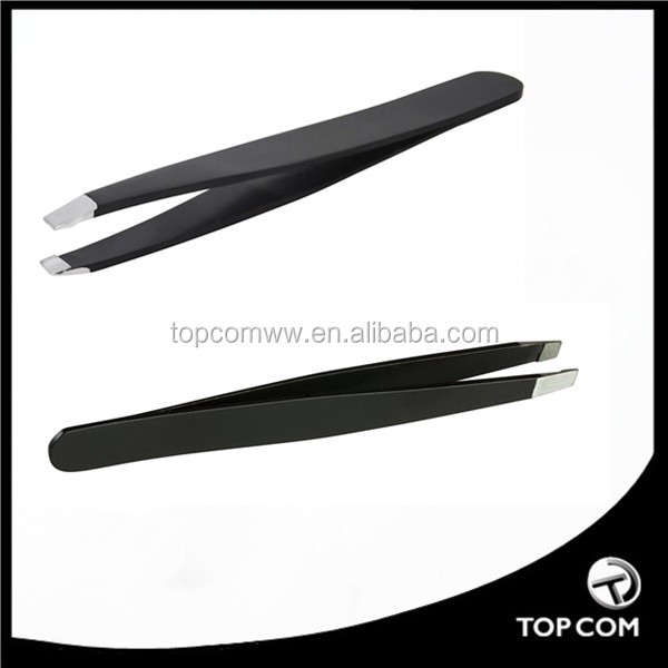 Best price for eyebow tweezer majoy export/ electrophoretic with window display box tweezers