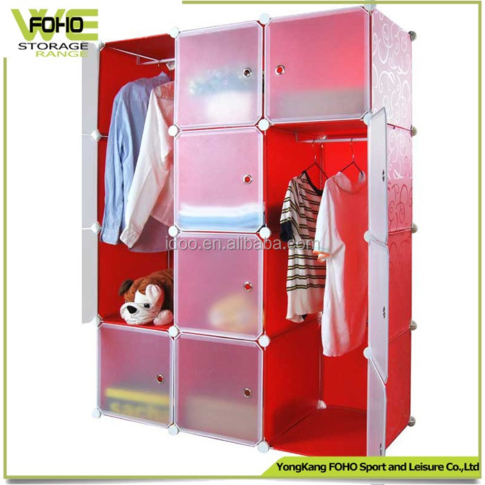 New 8 cubes DIY plastic modern home storage cabinets wardrobe