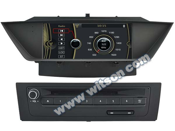 WITSON DASHBOARD FOR BMW X1 DVD GPS A8 Chipset Dual Chipset,3G modem / wifi/ DVR (Option)