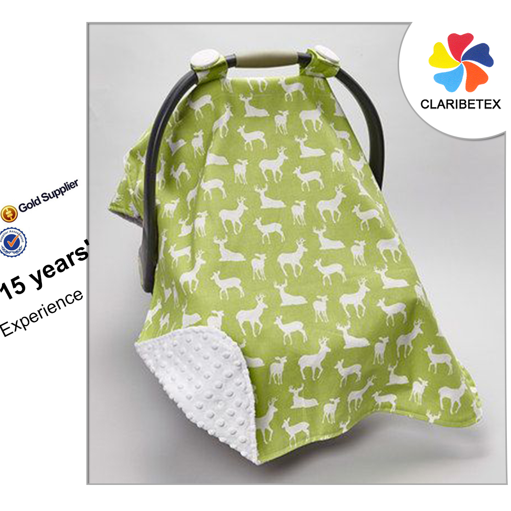 Wholesale Printing Customized Strap Infant Canopy Cotton Baby Car Seat Cover with Sun Protection