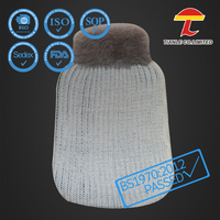 2000ml rubber hot water bag with dog knitted cover