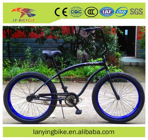 2016 Most popular fat tyre beach cruiser 24'' new design high carbon steel fat bike