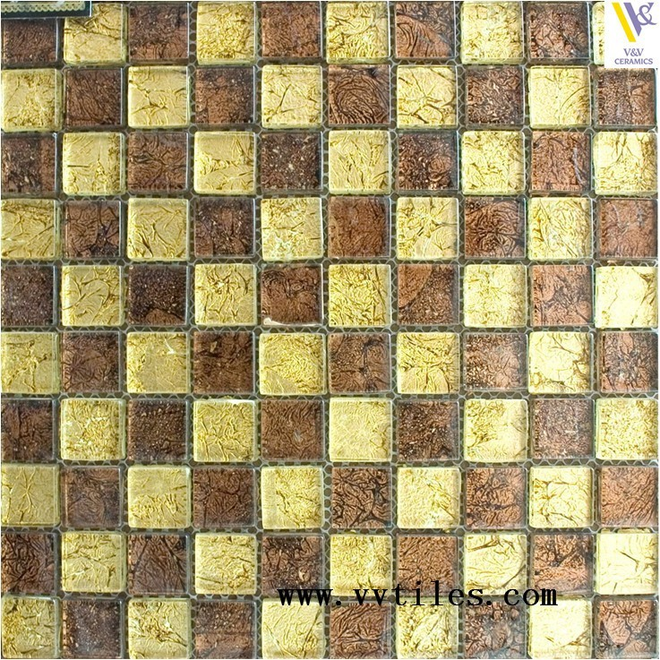 Glitter self adhesive mosaic tile mesh,crystal glass mosaic tile