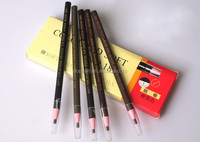 cheap cosmetic eye pencil coloured soft eyebrow pencil