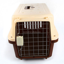 Hot sale breathable PP plastic pet carrier dog flight cage dog crate manufacturers pet carrier