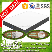euro type hotel memory foam encased pocket coil mattress