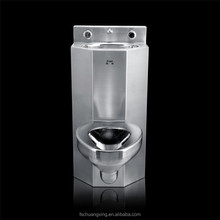 American style combination toilet Stainless steel prison toilet,jail cell water closestool