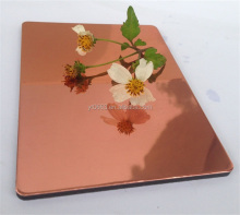 pink color wall panel Mirror surface Aluminum composite panel