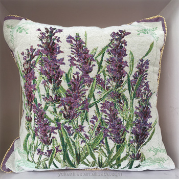 Lavender Design Latest Wholesale Jacquard Cushion Cover