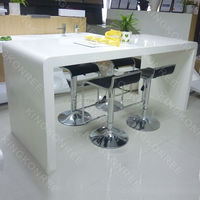 acrylic solid surface kitchen table, kitchen bar counter table