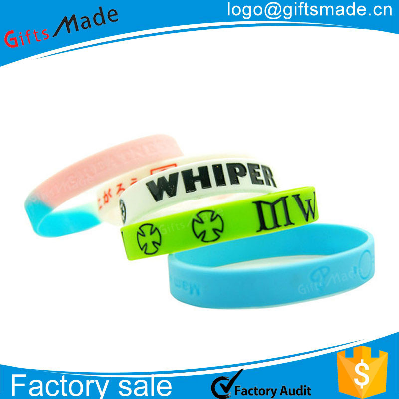 customized printed cheap plastic wrist bracelets/make your own rubber bracelet