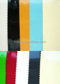 Bright and smooth surface pu mirror leather for bags