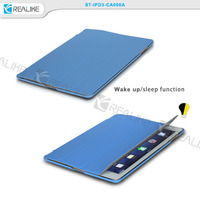 realike manufacturer, smart wake/sleep function case for ipad3, various color