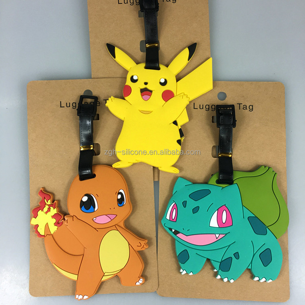 Best Selling Silicone Luggage Tag Wholesale Pokemon Luggage Tag