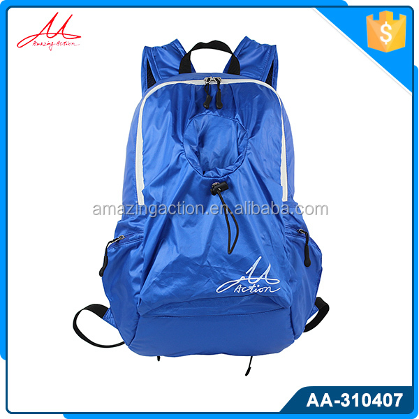 Durable lightweight 50D nylon sport folding backpack