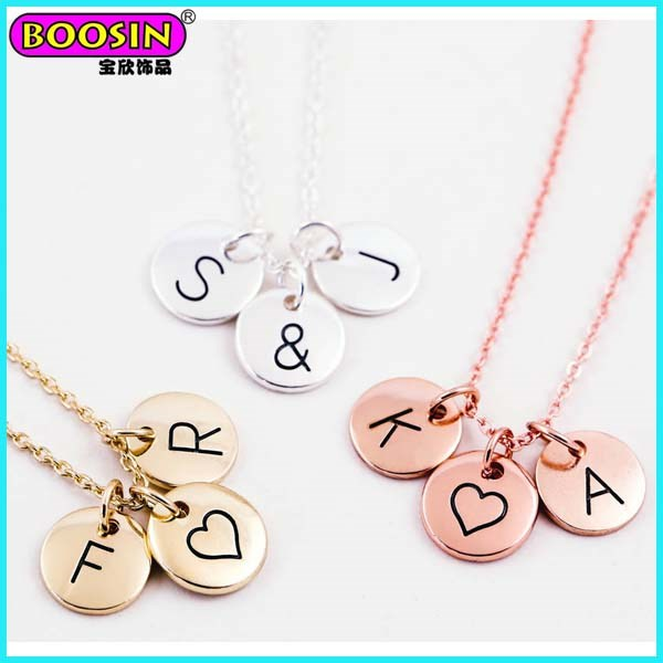 Wholesale Custom Logo Engraved Jewelry Tags Charms