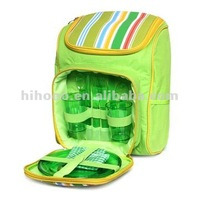 2 persons polyester picnic lunch bag / lunch backpack