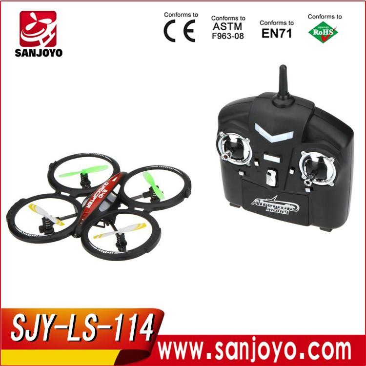 2016 Cool R/<strong>C</strong> 4CH 2.4GHz RTF UFO Aircraft Drone Radio Control Toy RC Quadcopter w/6-axis Gyro SJY-LS-<strong>114</strong>