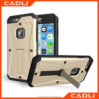 Armor 3 in 1Shockproof case Hybrid Silicone + TPU Back Cases With Kickstand For iphone 6 6s Phone Bag Housing Cases