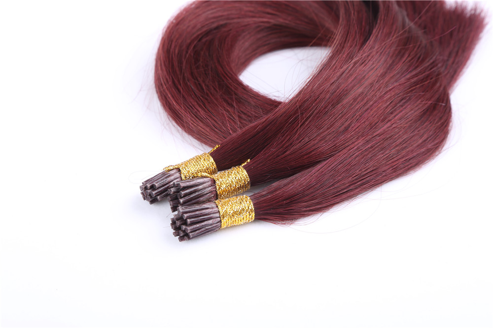 Wholesale cheap High Quality 9A ,Peruvian Virgin Remy Sexy Human Hair ,Weave in bulk I-Tip Hair Extension