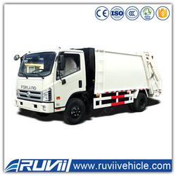 > 8L Deisel Engine 10m3 to 15m3 4*2 compactor Garbage compactor Truck garbage compression truck price for India