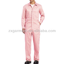 Pink Work Overalls Adult pink coveralls manufacturer