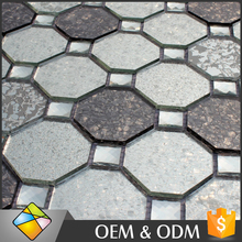 3 Type Hexagon Glass Mosaic Tile