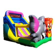 commercial grade mickey house inflatable slide for birthday party