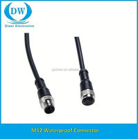 M12 Connector simple design m12 male female plug 3 pin waterproof connector cable reasonable price