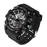 2017 New Sanda 759 Men Military Sport LED Digital Dual Disaplay Watch Top luxury Famous Brand Electronic Multiple Time Zone