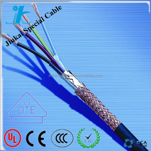 22 AWG 2~8 Core RoHS Standard PVC Insulated and Sheathed Copper Shielded UL 2464 Cable