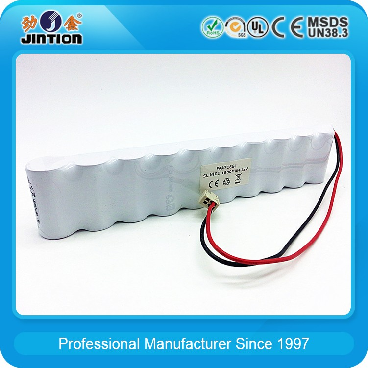 Ni-CD SC 1800mAh 12v Rechargeable Battery Pack