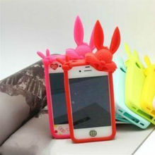 For Iphone4 mouse cell phone case ,rabbit phone cover for iphone4S ,silicon phone case