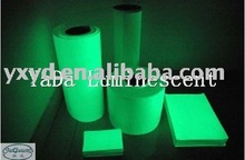 luminous film/glow in the dark film/night glow rigid vinyl film